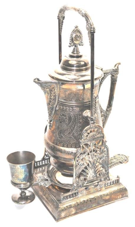Impeccable Meriden Silver Plate Hot Water Urn
