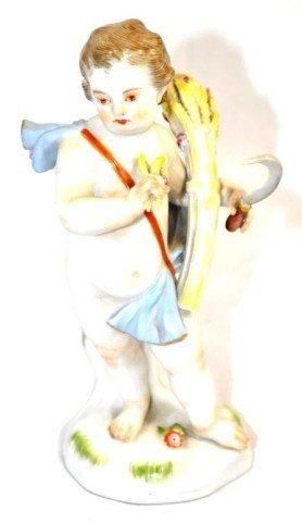 German Meissen Porcelain Figure Depicting Fall