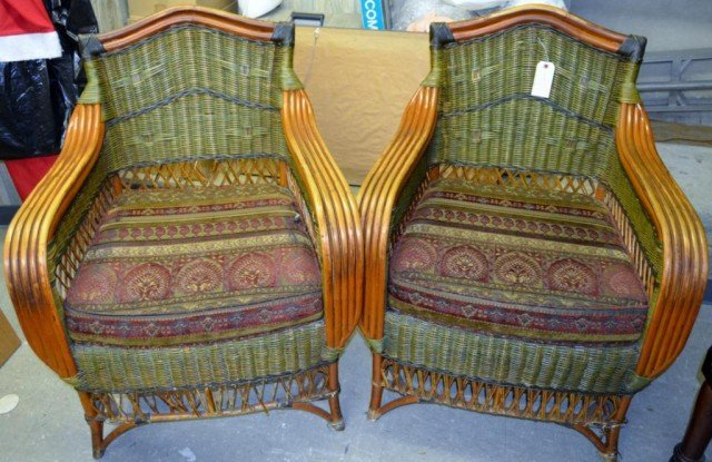 Wicker Lounge Chairs 2 Pieces