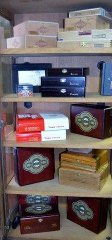 Collection Of Cigar Boxes, 21 Pieces