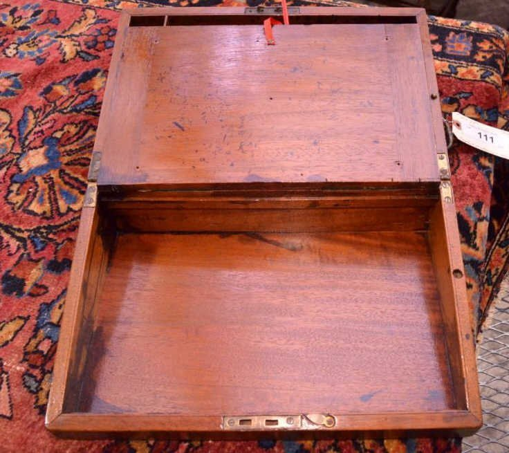 English Mahogany Lap Desk - 3