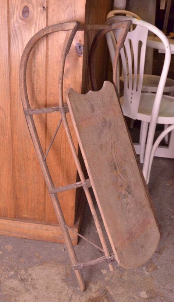 Antique Wooden Sleds - 3