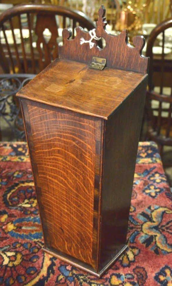 English Oak Candle Box