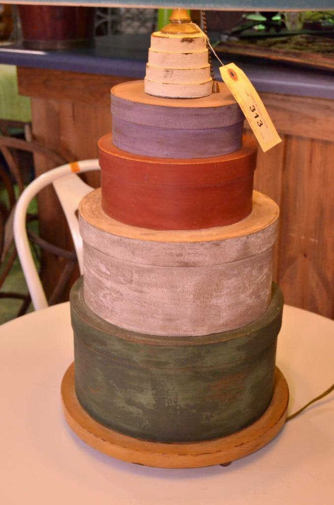 Decorative Shaker Box Lamp - 2