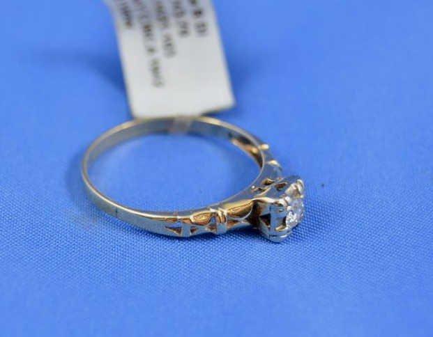 Vintage 14kt Yellow Gold Diamond Ring