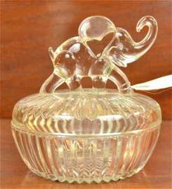Elephant Figural Candy Dish
