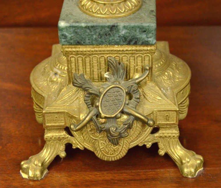 Italian Rococo Marble & Bronze Candelabra - 2
