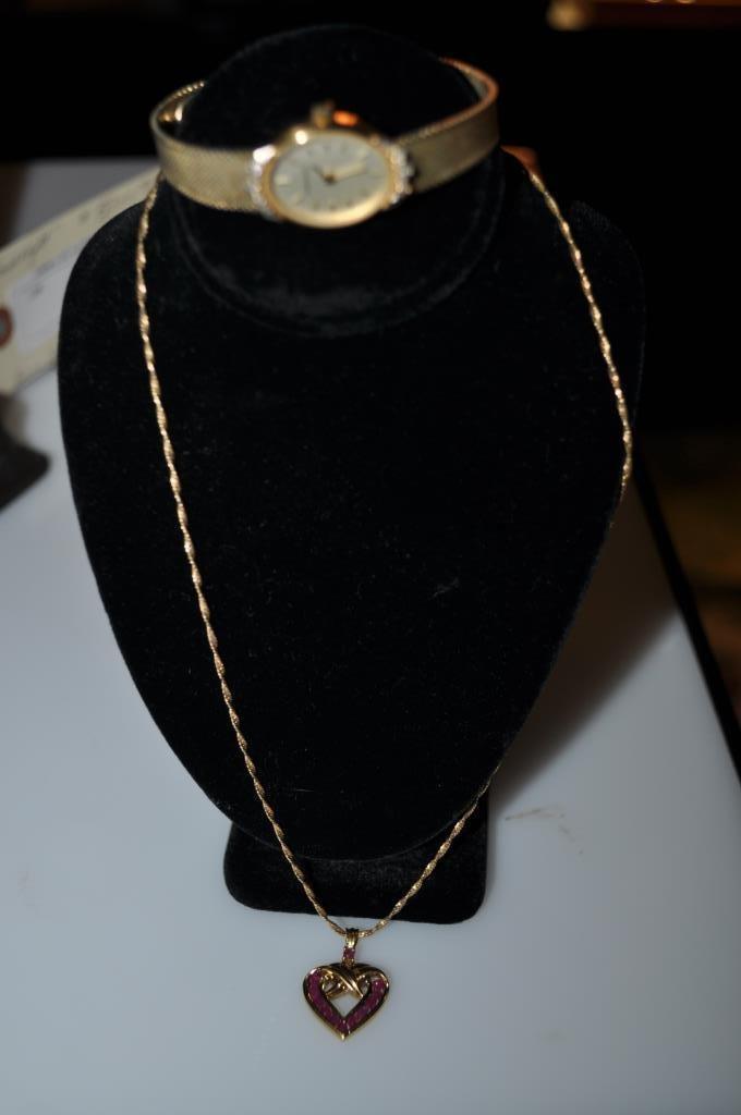Hamilton Ladies Watch & Sterling Heart Pendant