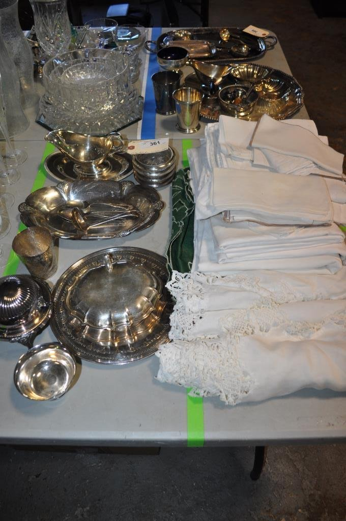 Vintage Table Linen & Silver Plated Tableware