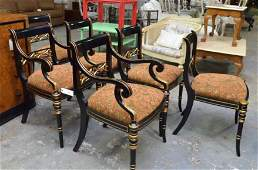 Maitland-Smith Regency-Style Dining Chairs, 6 Pc