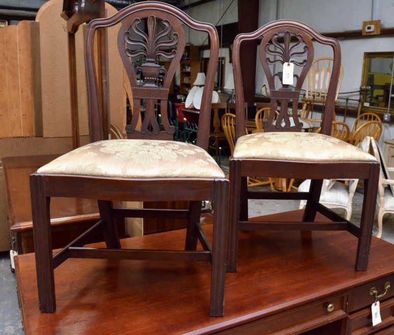 Urn and Flame-back Centennial Side Chairs, Pr
