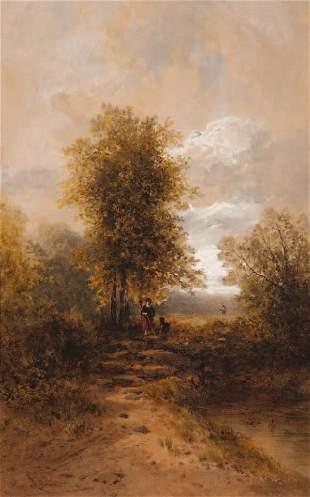 Hippolyte LEBAS (1782-1867) La promenade