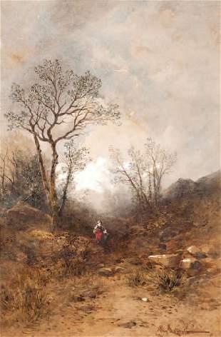 Hippolyte LEBAS (1782-1867) La bergère et le pâtre