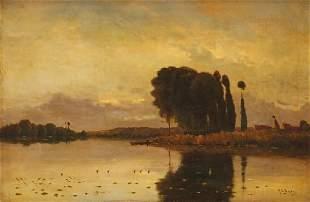 Jacques Henry DELPY (1877-1957)Le bord de la rivière