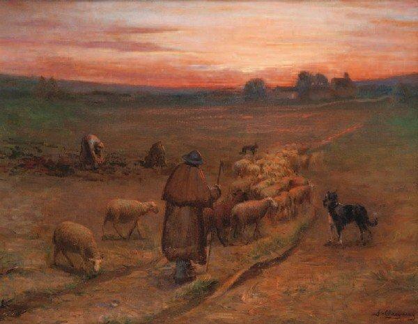 5: Jean Ferdinand CHAIGNEAU (1830-1906)Berger et son tr