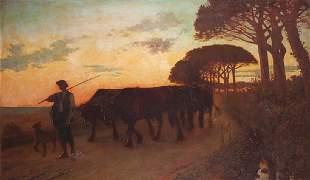 Armand Alexis LARROQUE (né en 1869)Attelage auvergna