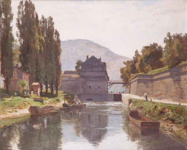 8: Marie-Victor-Emile ISENBART (1846-1921)Canal avec pê
