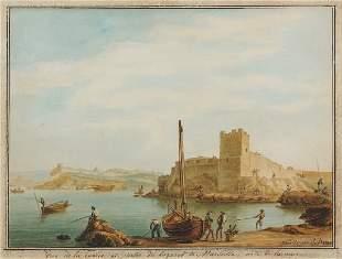 Antoine ROUX (1765-1835)Vue de la Tuerie et partie