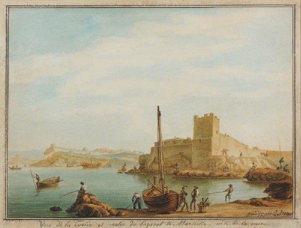 17: Antoine ROUX (1765-1835)Vue de la Tuerie et partie