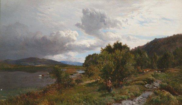 19: *Sidney Richard PERCY* (1821-1886)Paysage de mo