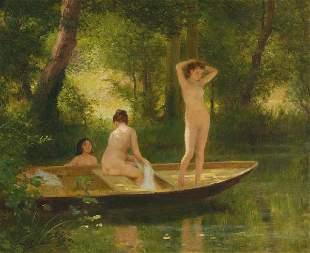 Victor Gabriel GILBERT (1847-1933)Les baigneusesHu