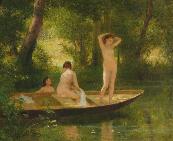 20: Victor Gabriel  GILBERT (1847-1933)Les baigneusesHu