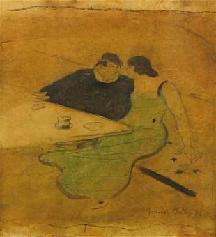 Georges Alfred BOTTINI (1874-1907)Le café, 1896Aqua