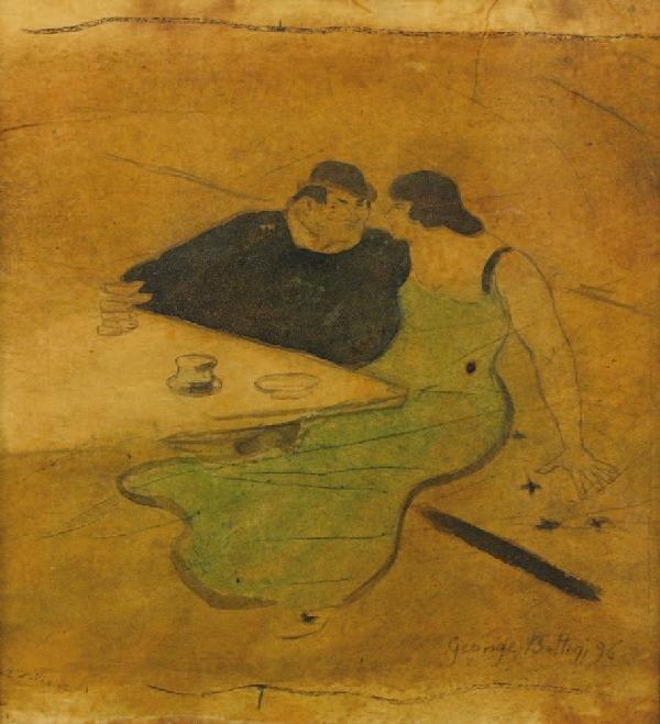24: Georges Alfred BOTTINI (1874-1907)Le café, 1896Aqua