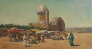 Richard Karlovich ZOMMER - Scène de marché à Samarca