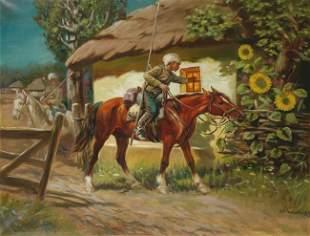 Athanas Ivanovich SCHELOUMOFF - La visite des cosaqu