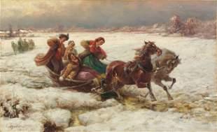 Pjotr C. STOJANOW - Joyeuse promenade en traineau