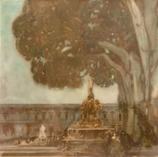 Alexandre BENOIS - La fontaine du parc