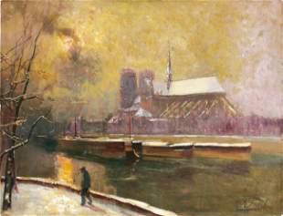 Elie Anatole PAVIL - Promenade sur le quai de la To