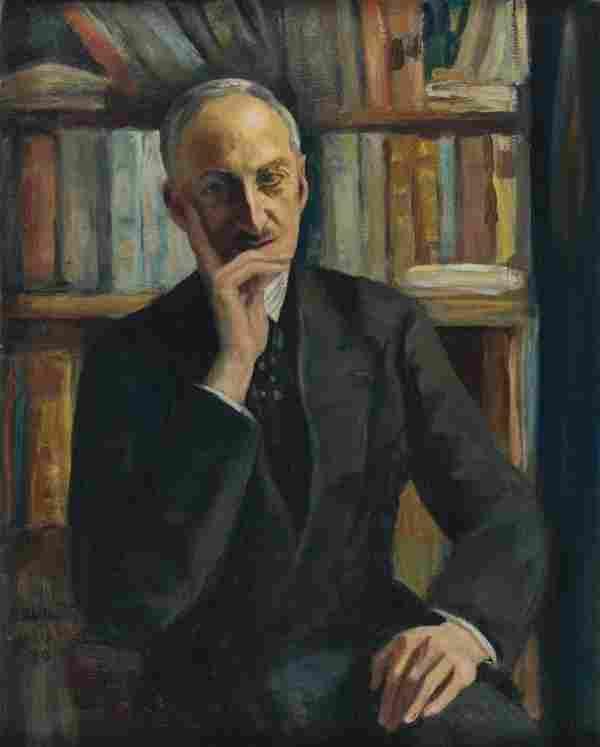 Nikolay MILIOTI - Portrait d'André Maurois, Paris 1