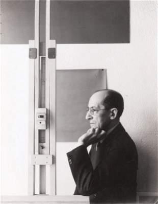 Harry HOLTZMAN-Portrait de Mondrian au chevalet