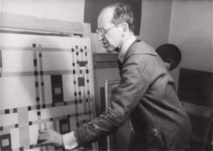 Fritz GLARNER-Portrait de MONDRIAN dans son atelier