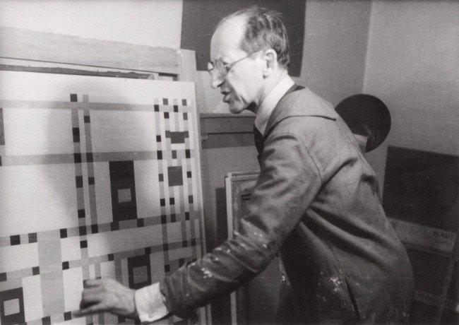 5: Fritz GLARNER-Portrait de MONDRIAN dans son atelier