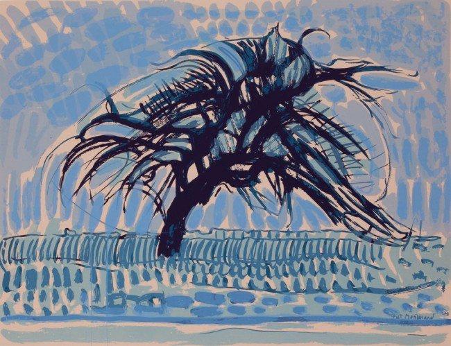 13: Piet MONDRIAN-Portofolio de 12  sérigraphies