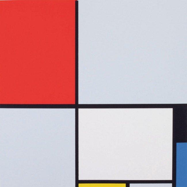 15: Piet MONDRIAN-Composition en rouge, jaune, bleu