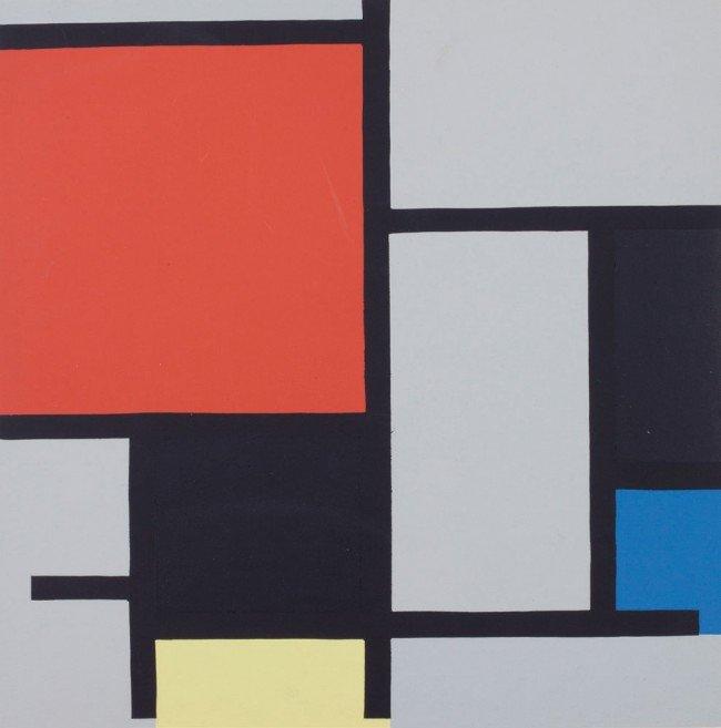 16: Piet MONDRIAN-Composition rouge, jaune, bleu