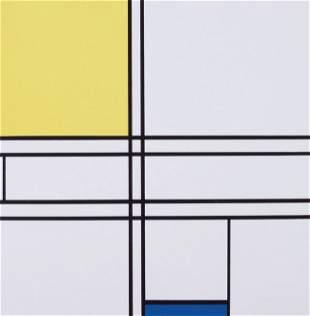 Piet MONDRIAN-Composition jaune et bleu