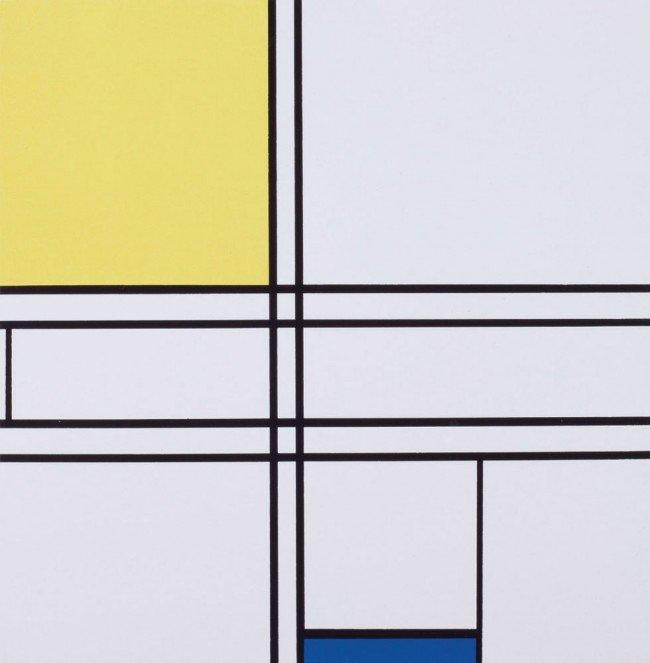17: Piet MONDRIAN-Composition jaune et bleu