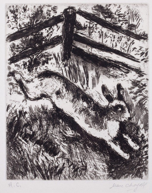 22: Marc CHAGALL-Le lapin