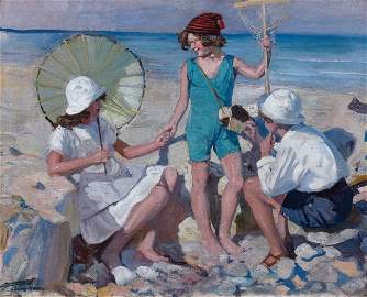 97: Lucien-Hector JONAS-Le bain de soleil � Isigny sur