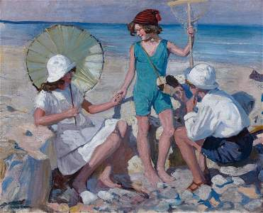 97: Lucien-Hector JONAS-Le bain de soleil à Isigny sur