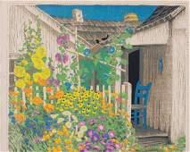 137: Gustave BAUMANN-Grandma Battins garden