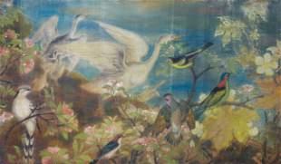 LE PHO - Hibiscus et oiseaux, 1940