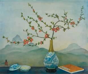 Mai Trung THU - Fleurs de pommier du japon dans un v