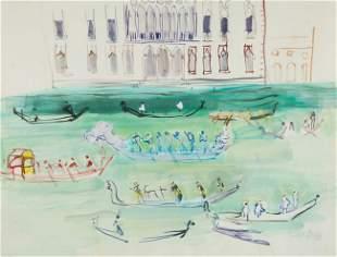 169: Raoul DUFY - Gondoles sur le Grand Canal, 1952