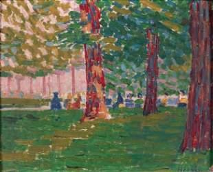 178: Auguste HERBIN - Sous les arbres du Luxembourg, 19